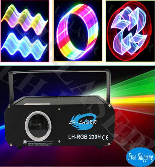 Free Shipping 1000mW 2D/3D RGB Animation Laser