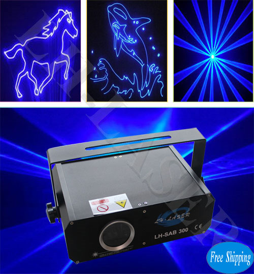 Free Shipping 300mW Blue Color SD Card Laser