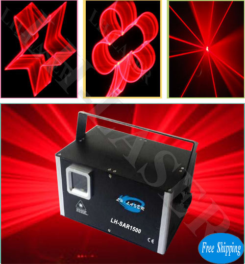 Free Shipping 1500mW Single Red Color SD Card Laser