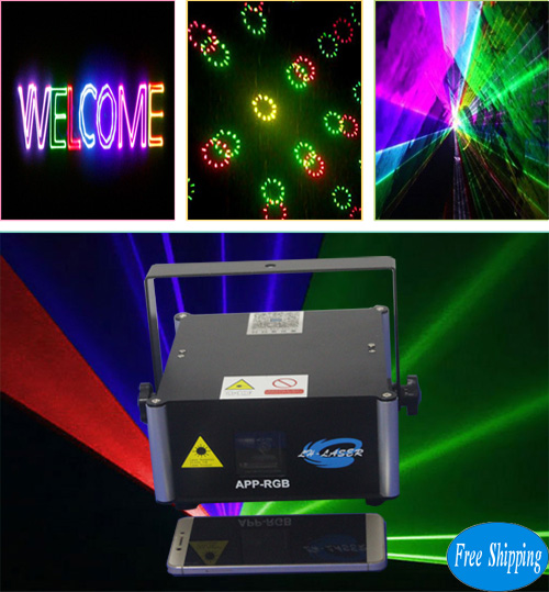 Free Shipping 1000MW APP RGB laser stage lights
