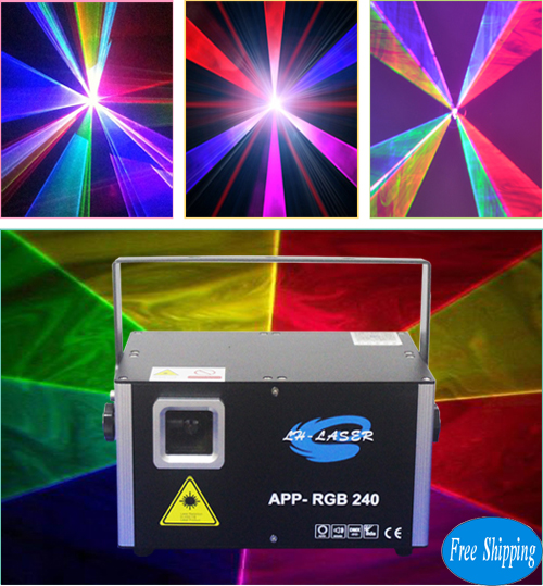 Free Shipping 2W Andriod Bluetooth Pattern RGB Animation Laser