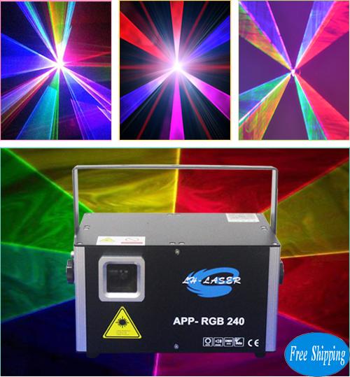 Free Shipping 2000MW Bluetooth+ILDA+DMX512 RGB Laser