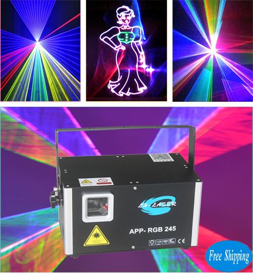 Free Shipping 2500MW ILDA+DMX512 Bluetooth RGB LASER