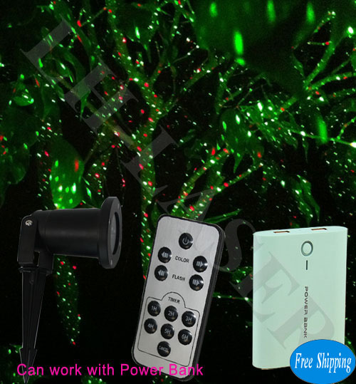Free Shipping Red+Green Moving Fireworks Laser