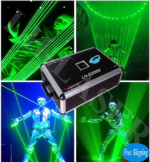 Free Shipping 2W Single Green SD Card LaserMan