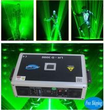Free Shipping 3W Single Green SD Card LaserMan