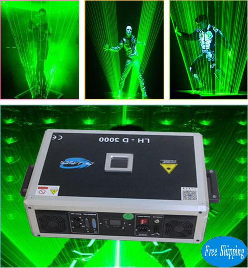 Free Shipping 3W Single Green SD Card LaserMan