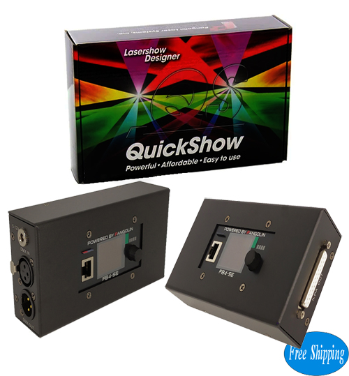 Free Shipping Pangolin Quickshow FB4 Laser Software