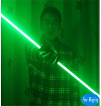 Free Shipping Green Color Hand Laser Swords For LaserMan