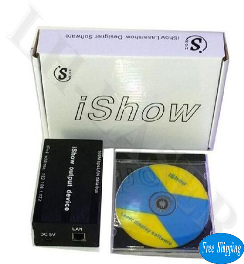 Free Shipping 3.0 Version Ishow Professional Laser show Controller Software