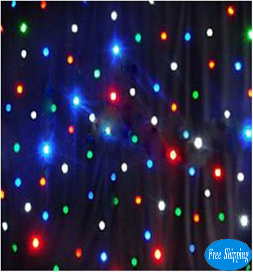Free Shipping LED star curtain 2*3M   RGBW