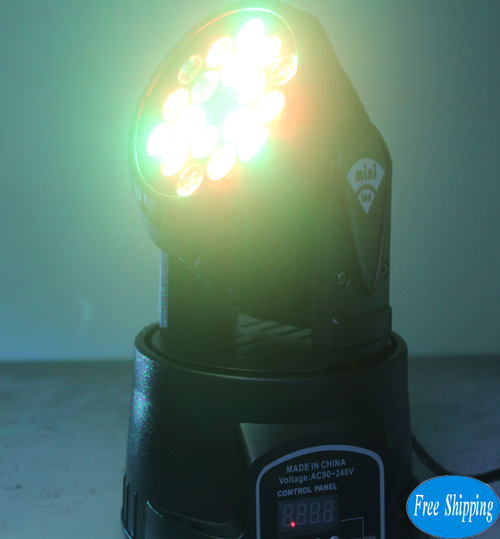 Free Shipping 18 Pcs*1W RGB LED Moving Head Light