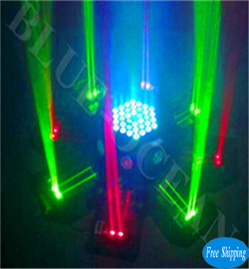 Free Shipping RGB Octopus Laser Light With LED