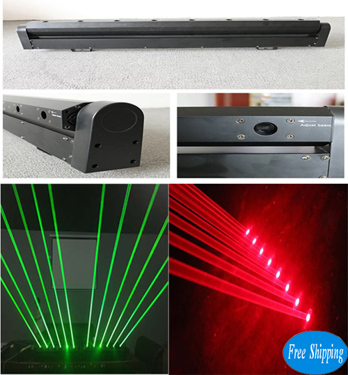 Free Shipping  8 eyes red/green moving head laser