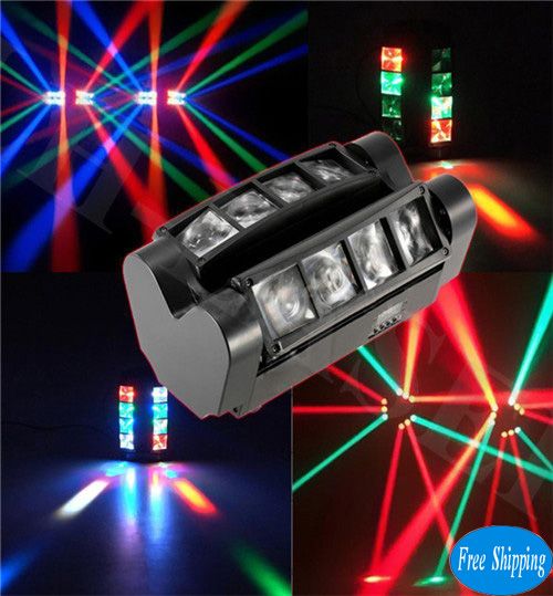 Free Shipping Mini LED Eight eyes spider beam lights bar