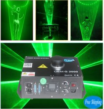 Free Shipping 2W SD Card Single Green Laser Show Dj Laserman