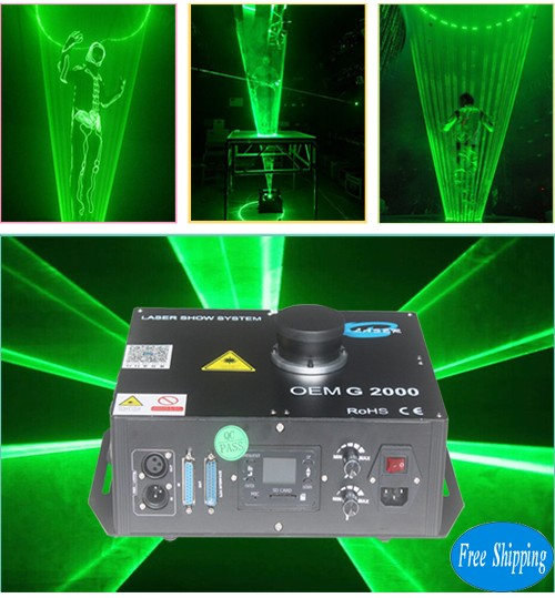 2W Single Green Laser Man Laser Show Dj Laser man