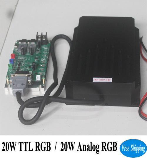 Free Shipping 20W RGB stage disco laser lighting diodes system