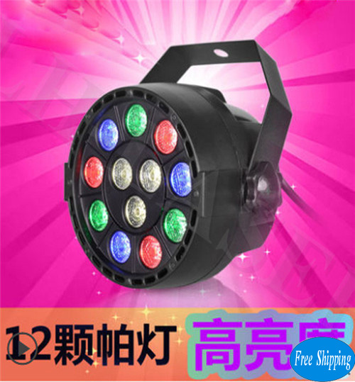 Free Shipping 12pcs*1W LED Par Lighting