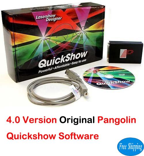 Free Shipping Original 4.0 Pangolin Quickshow Laser Software