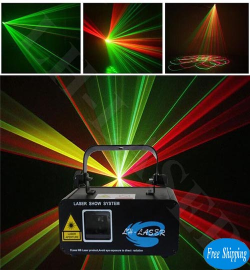 Free Shipping red & green beam christmas laser