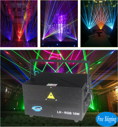 10W New Full Color RGB Laser Light
