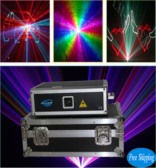 Free Shipping 10W SD Card Full Color Disco Laser