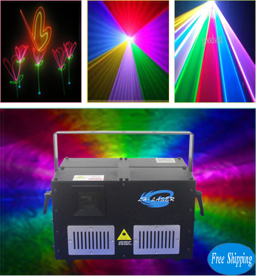 Free Shipping 10W Full Color RGB Disco Laser