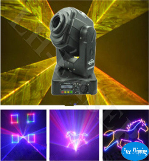 Free Shipping RGB Moving Head Animation Laser