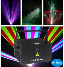 Free Shipping 20W SD Card and ILDA Port Full Color RGB Outdoor Laser