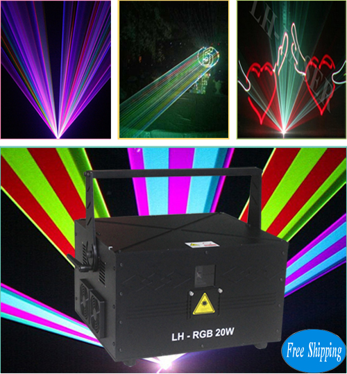 Free Shipping 20W SD Card RGB Laser