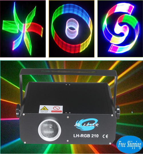 Free Shipping 300mW 2D+3D+SD Card Full Color Animation Laser Light