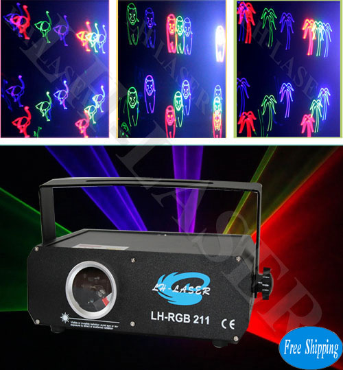 Free Shipping 300mW Fireworks SD Card Indoor Disco RGB Laser