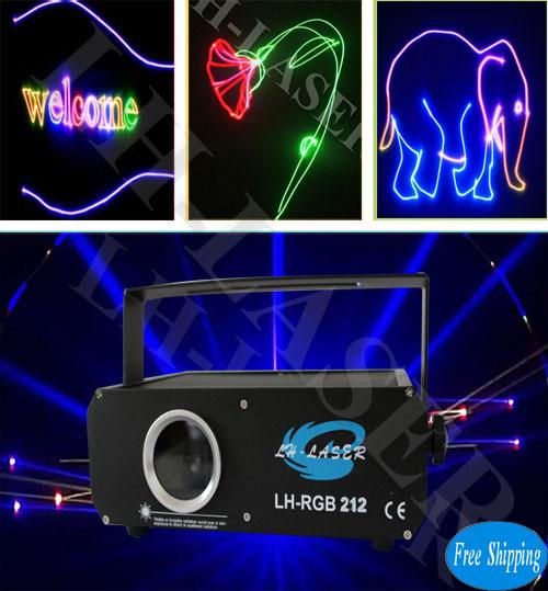 Free Shipping 300mW Analgo Modulation RGB  Laser