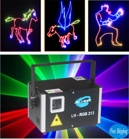 Free Shipping 1.2W TTL Modulation RGB Laser