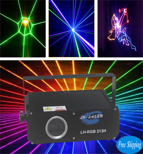 Free Shipping Mini 1000MW TTL Modulation RGB Animation Laser