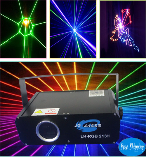 Free Shipping 1000mw Mini full color laser light