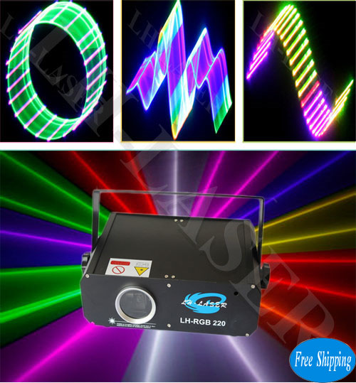 Free Shipping 500mW 3D+SD Card RGB Animation Laser