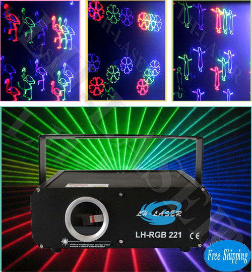 Free Shipping 500mW SD Card Fireworks Animations and Beam RGB Laser
