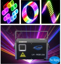 Free Shipping 1200mW 3D+SD Card Full Color Animation Laser
