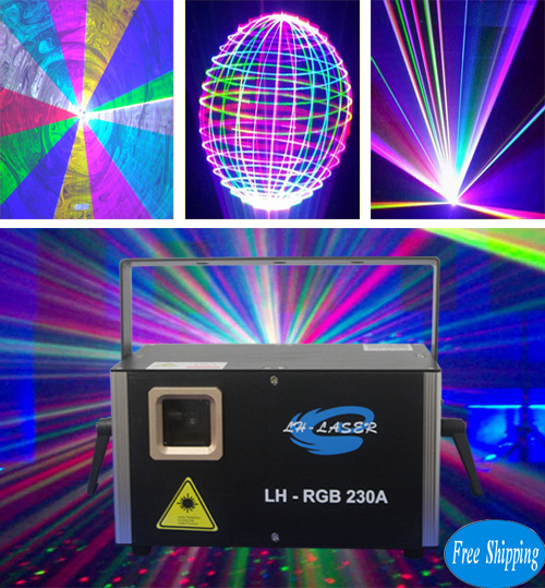 Free Shipping 1200MW Analog Modulation RGB Animation Laser
