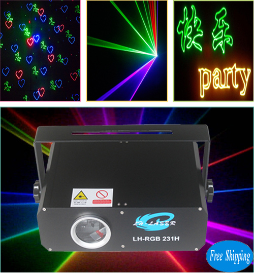 Free Shipping 1000mW SD Card Fireworks Disco Laser