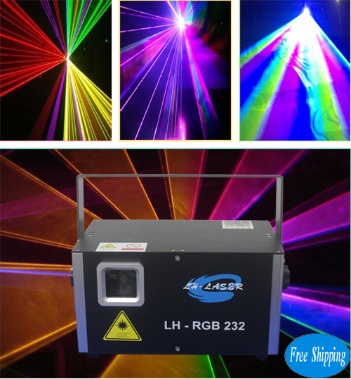 Free Shipping 1.2W Analog RGB with SD Card outdoor laser