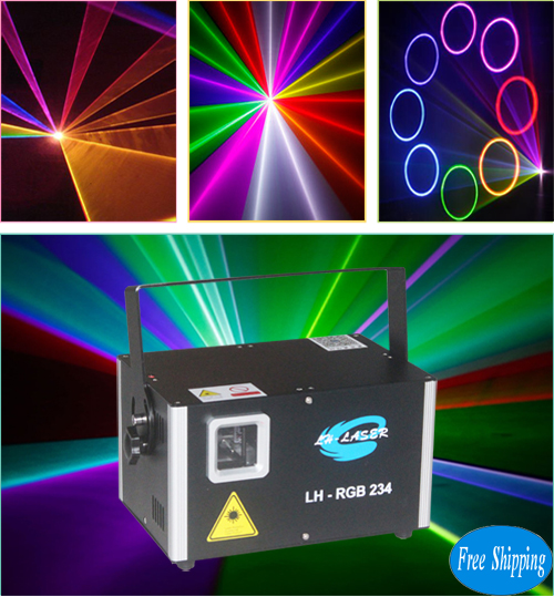 Free Shipping 1.5W TTL Modulation RGB Lighting System