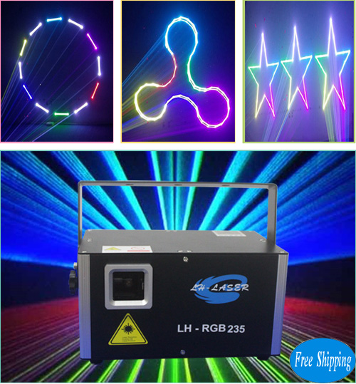 Free Shipping 1500mW 3D+SD Card RGB Laser Show