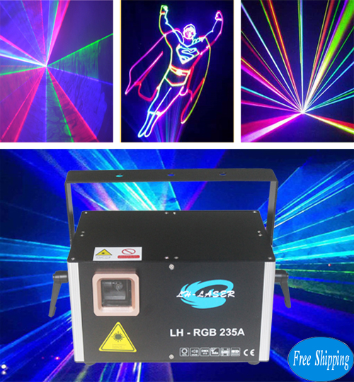 Free Shipping ILDA And PC Control RGB Laser Stage Lighting