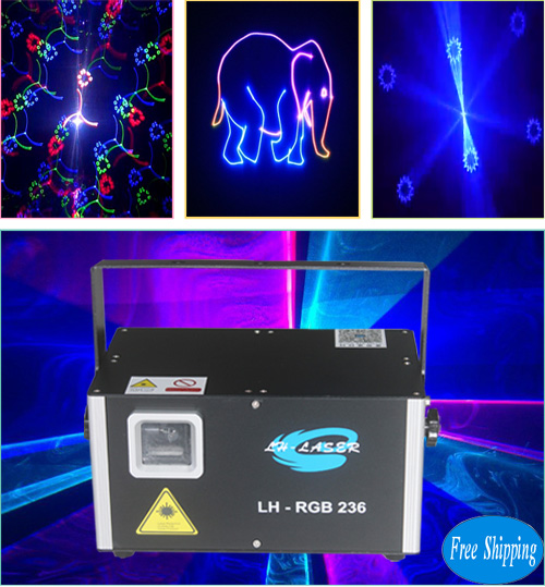 Free Shipping 1500mW ILDA Fireworks Laser Project