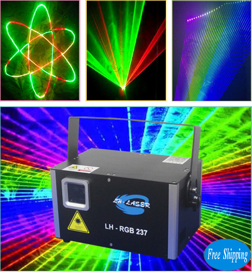 Free Shipping 1500mW Analog SD Card RGB Laser