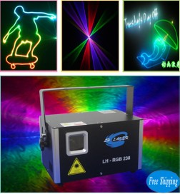 Free Shipping 1500MW Analog 45kpps RGB Lighting Laser Show
