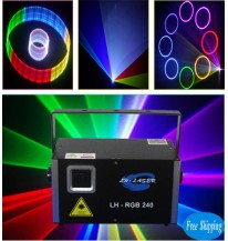 Free Shipping 2000mw 2D/3D SD Card RGB Laser Light
